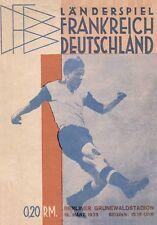 Fußball Football Programm 1933 Deutschland Allemagne v France Frankreic REPRINT-
