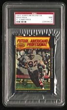 1977 Topps Mexican Football 4 card WAX PACK graded PSA 7 ULTRA RARE Largent RC *