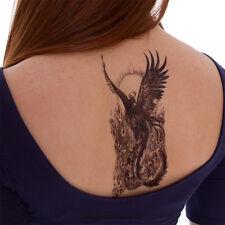 2 Phoenix Einmal Tattoo Groß Temporary Tattoo Vogel Phönix Tattoo - Blitzversand