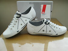 HELLY HANSEN LATITUDE 90 MENS WHITE SOFT LEATHER DECK SHOES BNIN SIZE 11 EU 46