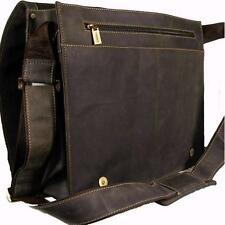 NEW VISCONTI XL OIL BROWN HUNTER LEATHER OFFICE WORK BAG ORGANISER