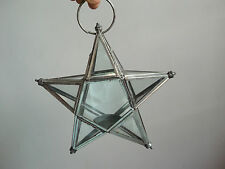 Rare old vintage beautiful star shape candle holders of 80's, (pair).