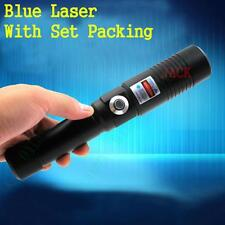 Most Powerful Focusable Blue Burning Laser Pointer Pen Burn Wood Match 2x16340