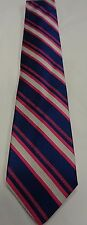 NEW MEN'S BROOKS BROTHERS NECKTIE TIE, ONE SIZE, NAVY WITH HOT PINK/GREY