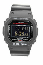 CASIO G-SHOCK DW5600HR-1 DigItal Square Black Case Black Resin Band Brand New