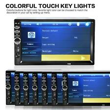 """7"""" 2Din Car Stereo MP5 MP3 Player LED Touch Screen FM Radio USB SD Bluetooth US"""