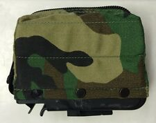 US ARMY SAW MAG POUCH WOODLAND CAMOUFLAGE GROOVE Bag M249 Magazine bag