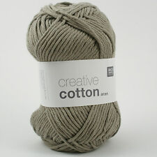 Rico Creative Cotton Aran - 100% Cotton Knitting & Crochet Yarn - Pearl Grey 52