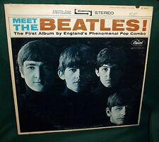 MEET THE BEATLES STEREO 3 BMI  RARE #3  FEB 1964 GENUINE VG+ OR BETTR WAX LENNON