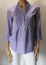 TARGET Brand Purple Cotton Lace Smock 3/4 Sleeve Blouse Top Size 8-XS BNWT #TD25