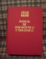MANUAL DE DIAGNOSTICO ETIOLOGICO (GREGORIO MARAÑON) - ESPASA CALPE - 1974