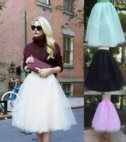 Tulle Ballet Women Princess 5 Layers Circle A Line Flare Gauze Tutu Fairy Skirt