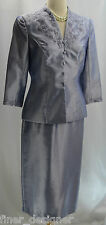 Alex Evenings formal Mother of the bride jacket cocktail suit lilac dress 6P