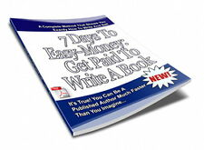 How To Get Paid To Write An eBook With: 7 Days To Making Money The Easy Way (CD)