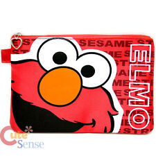 "Sesame Street Elmo Big Face Zippered Cosmetic Bag  Pencil Case 7"" Pouch"