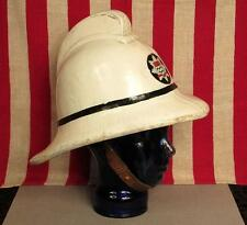 Vintage British Firefighters Leather Helmet London Fire Brigade England UK Nice!