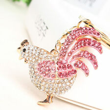 Chicken Cock Rooster Fashion Cute Swarovski Crystal Purse Bag Key Chain Gift