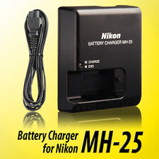 MH-25 MH25 BATTERY CHARGER FOR NIKON EN-EL15 V1 D600 D610 D7100 D810 D7000 D800E