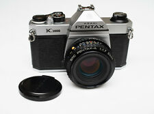 Asahi Pentax K1000 35mm SLR Film Camera CLAed w/ new seals SMC-A 50mm f/1.7 lens
