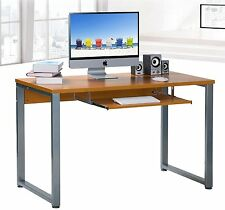 Merax Basic Computer Desk for Home and Office with Keyboard Tray MDF Board