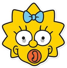 Maggie Simpson from The Simpsons Single Card Face Mask. Fun at Themed Parties