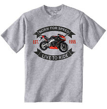APRILIA RS 125 - NEW COTTON GREY TSHIRT - ALL SIZES IN STOCK
