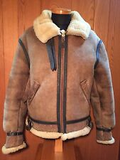 Free shipping VINTAGE AVIREX B3 BOMBER FLIGHT JACKET 38 BROWN