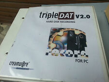 TRIPLE DAT CREAMWARE HDR HARD DISC RECORDING AUDIO