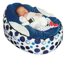 Blue Circle Bebé Bean Bag Con Relleno-Reino Unido Vendedor
