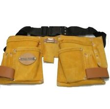 11 Pocket Double Leather Tool Pouch  with Web Belt