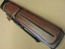 New Instroke Soft 4x8 Leather Pool Cue Case Black/Burgundy