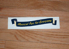 "Wurlitzer ""Musical Fun For Everyone"" Decal"