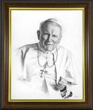 POPE JOHN PAUL CATHOLIC PONTIFF FRAMED PICTURE PRINT STATUES CANDLES ETC LISTED