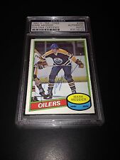 Mark Messier Signed 1980-81 O-Pee-Chee OPC Rookie Card PSA Slabbed #83518725
