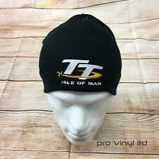 Isle Of Man TT Embroided Beanie Winter Hat Motorbike Superbike Motorsport Race