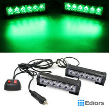 12 LED Car Truck Emergency Beacon Light Bar Hazard Strobe Warning Lamp Green 12V