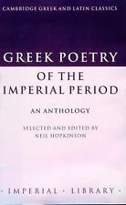 Greek Poetry of the Imperial Period : An Anthology
