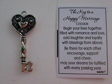 cc The KEY to a HAPPY MARRIAGE Charm to my heart love loyalty ganz wedding gift
