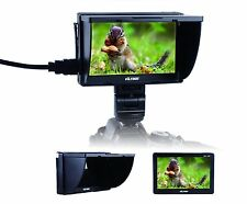 New Jueying DC-50 5'' Hot Shoe Monitor AV HDMI Input for Canon Nikon DSLR Camera