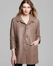 Kate spade New York Brown Bow Back Leather Coat Size:6 $1298 NWT