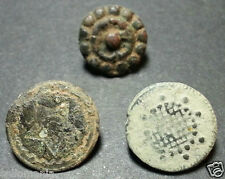3 SMALL ANTIQUE BUTTON CENTURY XVIII OLD BOUTON BUTTON BOTON SEE MY SHOP CCB1
