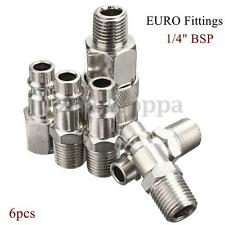 "6x 1/4""  BSP Air Line Hose Compressor Fitting Connector Quick Release M/F Thread"