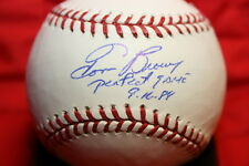 "TOM BROWNING AUTO SIGNED MAJOR LEAGUE BASEBALL OML ""PERFECT GAME 9-16-88"" REDS"