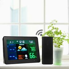 Wireless LED Color Weather Station Indoor/Outdoor Temperature Humidity Forecast