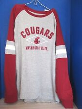 KA Knights Apparel~WSU~Gray WASHINGTON STATE COUGARS LS Shirt~Men's XL~NWT