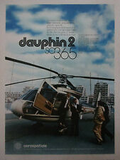 5/1978 PUB AEROSPATIALE HELICOPTERE DAUPHIN 2 SA 365 ORIGINAL FRENCH AD