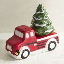 CHRISTMAS TREE AND TRUCK SALT AND PEPPER SHAKERS, NEW, CERAMIC