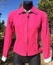 Vintage L.L Bean Hot Pink Women's Crop Zip Up Jacket Size S