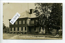 Holbrook MA Mass RPPC real photo Sumner High School, early