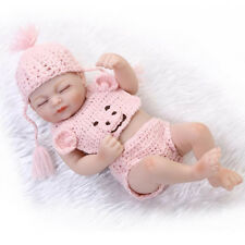 Handgemachte Reborn Newborn Mini Baby Doll volles Silikon-Vinyl Sleeping Girl
